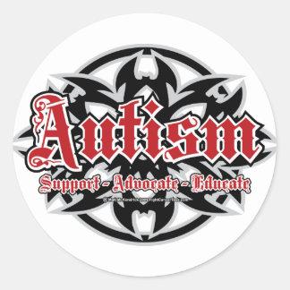 Autism Tribal Classic Round Sticker