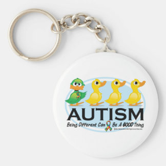 Autism Ugly Duckling Basic Round Button Keychain