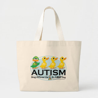 Autism Ugly Duckling Large Tote Bag