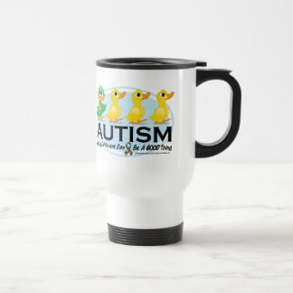 Autism Ugly Duckling 15 Oz Stainless Steel Travel Mug