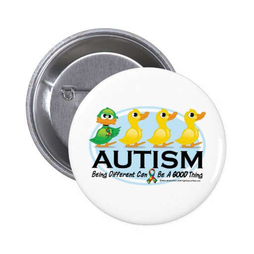 Autism Ugly Duckling Pin