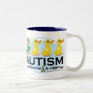 Autism Ugly Duckling Two-Tone Coffee Mug