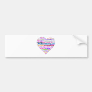 Autism Understanding Acceptance Products Car Bumper Sticker