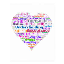 Autism Understanding Acceptance Products Postcard