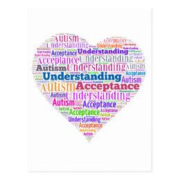 Autism Understanding Acceptance Products Postcard
