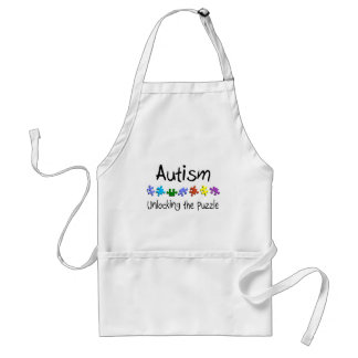 Autism Unlocking The Puzzle Adult Apron