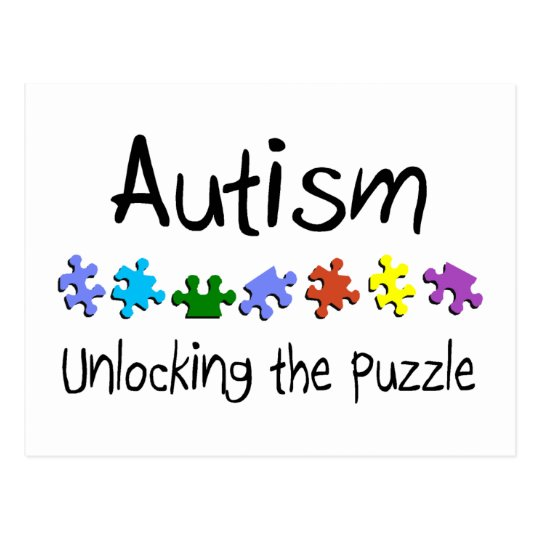 Autism Unlocking The Puzzle Postcard