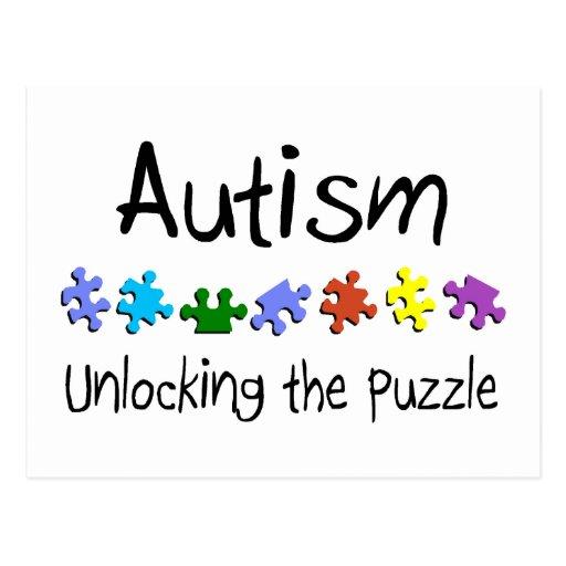 Autism Unlocking The Puzzle Postcard