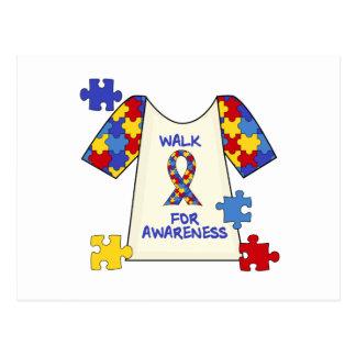 Autism Walk For Awareness Postcards