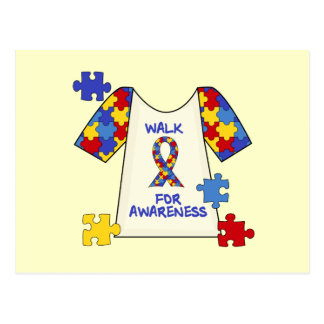 Autism Walk For Awareness Post Card