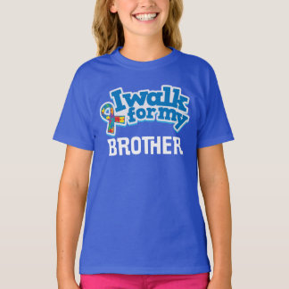 Autism Walk For Brother Puzzle Ribbon Shirt