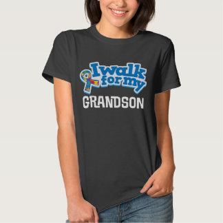 Autism Walk For Grandson Puzzle Ribbon tShirt