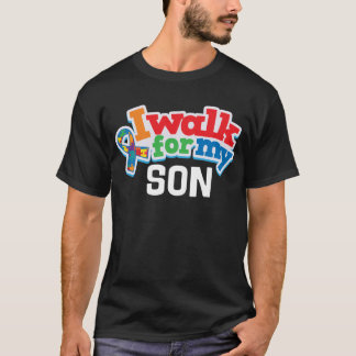 Autism Walk For Son Puzzle Ribbon Shirt
