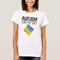 Autism Walk For Son Puzzle Ribbon T-Shirt