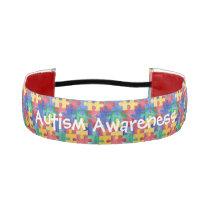 Autism watercolor puzzle custom headband