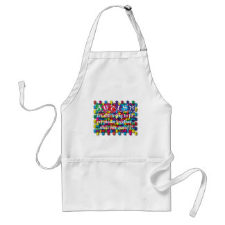 Autism What's Your Excuse Adult Apron
