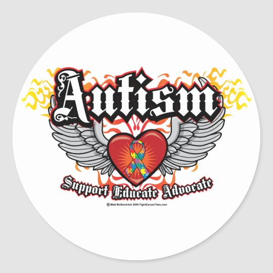 Autism Wings Classic Round Sticker