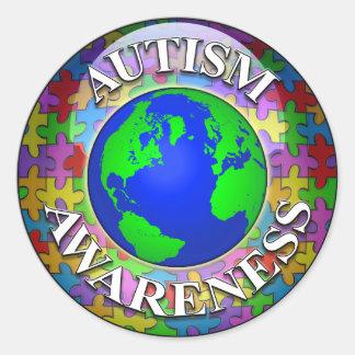 Autism Worldwide Classic Round Sticker