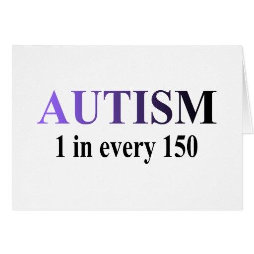 Autismo 1 en 150 tarjeta de felicitación