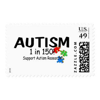 Autismo 1 en la investigación de 150 ayudas timbre postal