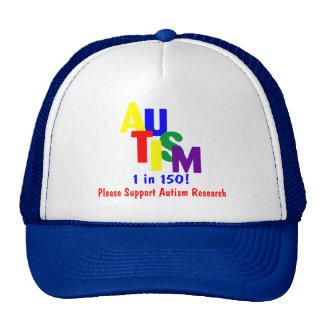 Autismo 1 en la investigación del autismo de 150 a gorras