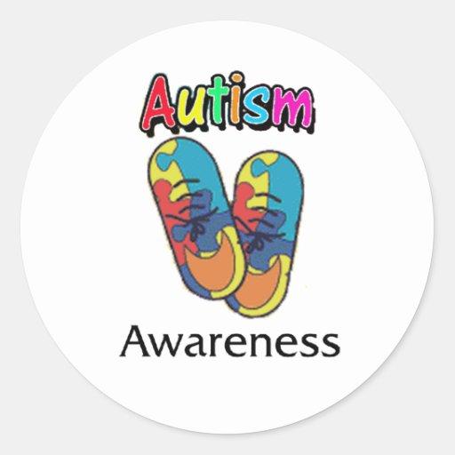 autismo_3 pegatina redonda
