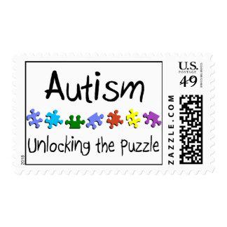 Autismo, abriendo el rompecabezas sello postal