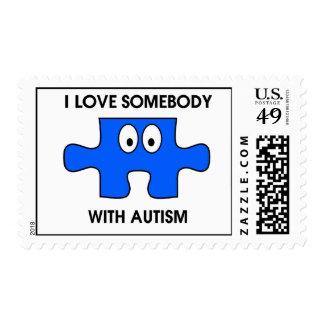 ¡Autismo - amor de I alguien!! Sellos
