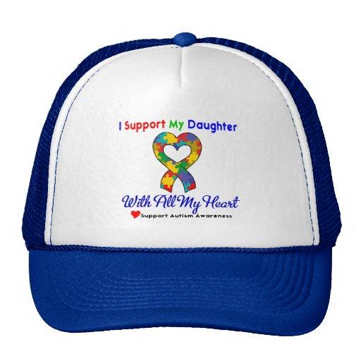 Autismo: Apoyo a mi hija con todo mi corazón Gorro