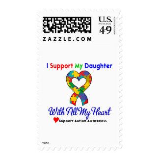 Autismo: Apoyo a mi hija con todo mi corazón Sellos