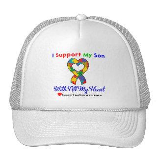 Autismo: Apoyo a mi hijo con todo mi corazón Gorra