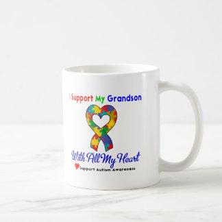 Autismo: Apoyo a mi nieto con todo mi corazón Taza De Café