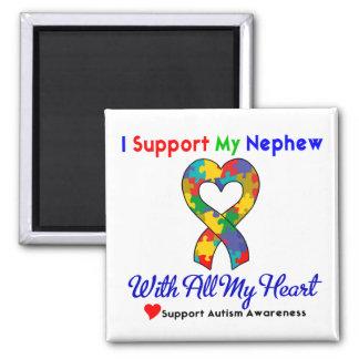 Autismo: Apoyo a mi sobrino con todo mi corazón Imán Para Frigorífico