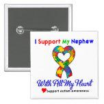 Autismo: Apoyo a mi sobrino con todo mi corazón Pin