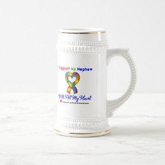 Autismo: Apoyo a mi sobrino con todo mi corazón Tazas De Café