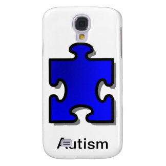 Autismo Awarenss, pedazo azul del rompecabezas, ar Funda Para Galaxy S4