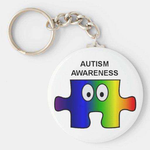 Autismo/ayuda y conciencia de Aspergers Llavero