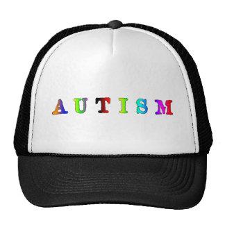 Autismo colorido gorras de camionero
