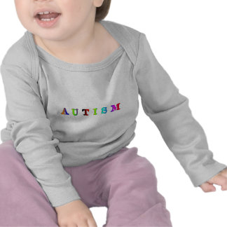 Autismo colorido camisetas