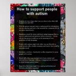Autismo cómo apoyar alguno con autismo poster