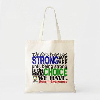 Autismo cómo es fuerte somos bolsa tela barata