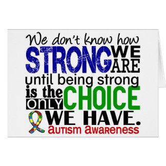 Autismo cómo es fuerte somos tarjetón