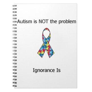 Autismo contra ignorancia libros de apuntes