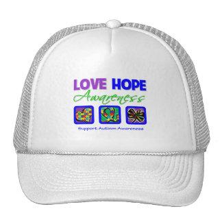 Autismo de la conciencia de la esperanza del amor gorra