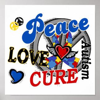 Autismo de la curación 2 del amor de la paz impresiones