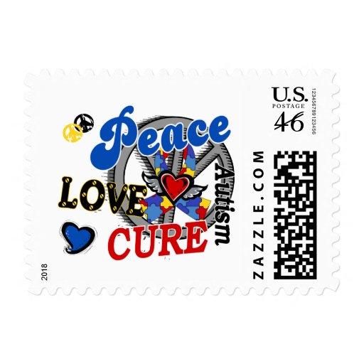 Autismo de la curación 2 del amor de la paz franqueo