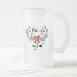 Autismo de la curación taza de cristal