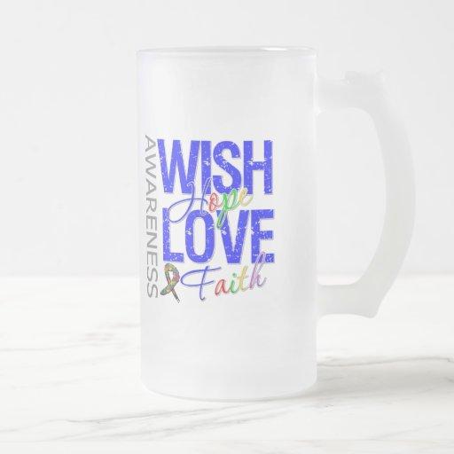 Autismo de la fe del amor de la esperanza del taza de cristal