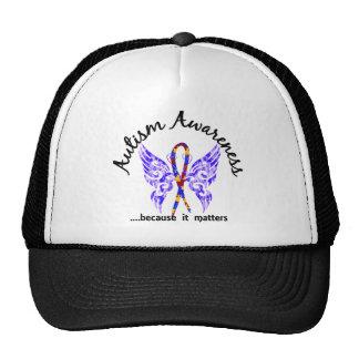 Autismo de la mariposa 6,1 del tatuaje del Grunge Gorras De Camionero