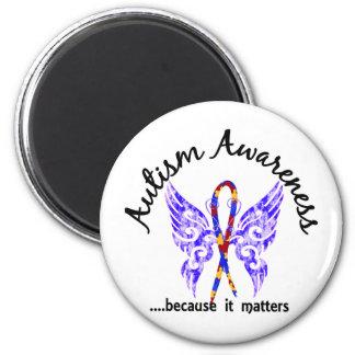 Autismo de la mariposa 6,1 del tatuaje del Grunge Imán Redondo 5 Cm